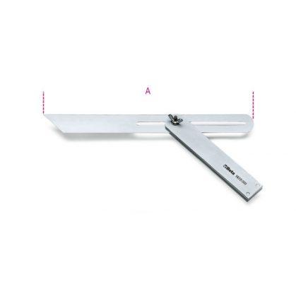 Beta 1672 Állítható szögsablon csúszó szárral, a szár és az alaplap acélból készült, krómozott