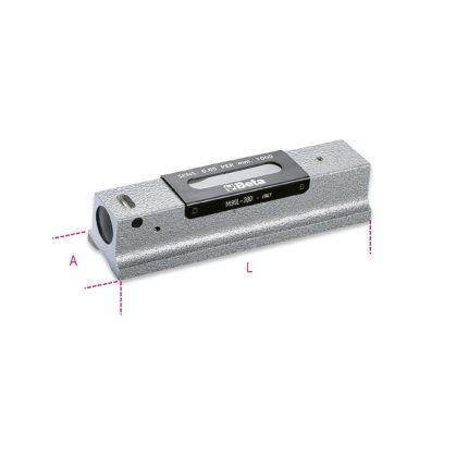 Beta 1699L Precíziós vízmérték, vasöntvény, köszörült prizmaalaplappal, 2 törésbiztos libella, fadobozban, pontosság: 0.05 mm/m