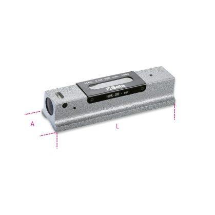 1699L/1 Precíziós vízmérték kokillaöntvény, köszörült prizmaalaplappal, 2 törésbiztos libella, fadobozban, pontosság: 0.02 mm/m