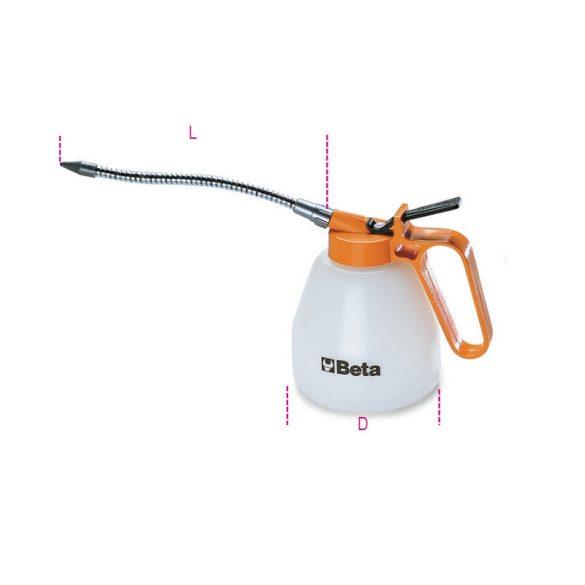 1753 200 Pumpás olajozó műanyag kanna, flexibilis csővel