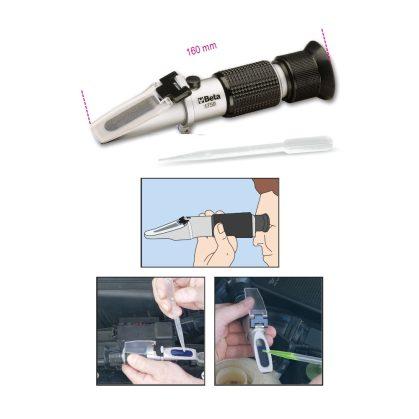 Beta 1759 Optikai fagyálló-, akkumulátorsav-, tárcsamosó- és AdBlue®-folyadék vizsgáló készülék Erősített tokban szállítva