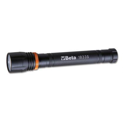 Beta 1833S LED zseblámpa intenzív fényerővel, robusztus eloxált alumíniumból, 500 lumenig