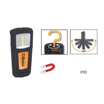 Beta 1838COB Kompakt LED-lámpa, feltölthető, intenzív fényerő, litium-polimér-akkumulátor