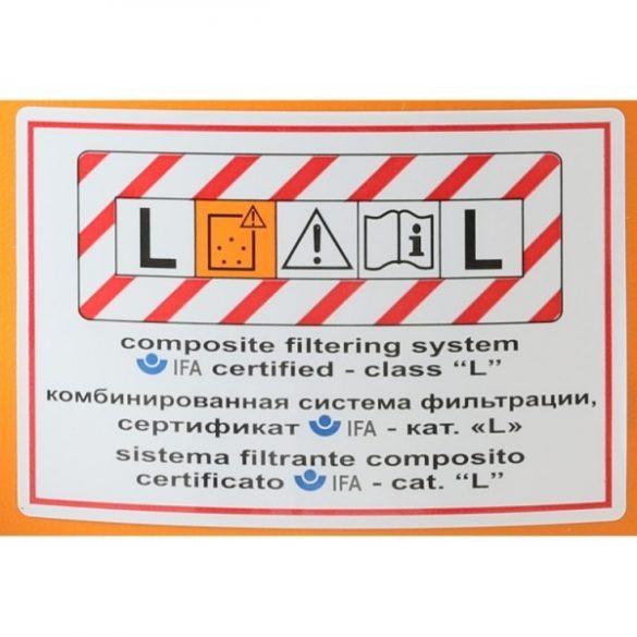 """Beta 1872L 35 literes száraz-nedves porszívó """"L"""" osztályú minősítés"""