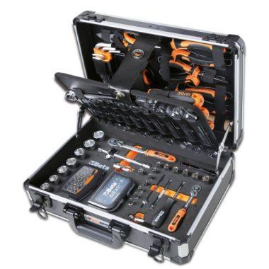 Beta 2054E/E-128 EASY 128 darabos szerszámkészlet táskában, általános karbantartáshoz ÚJ Evox!