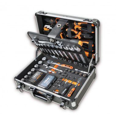 Beta 2054E/E-128 EASY 128 darabos szerszámkészlet táskában, általános karbantartáshoz KIFUTÓ!
