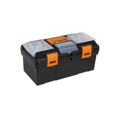Beta CP15 Műanyag szerszámos láda kivehető betéttel és tálcák kis tárgyak elhelyezésére, üresen