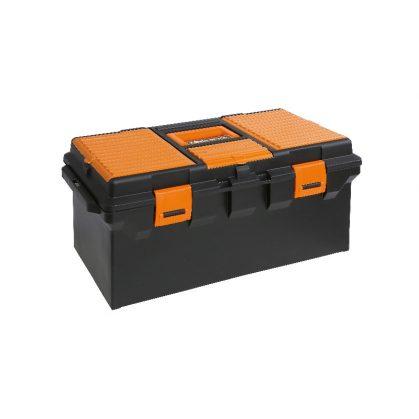 Beta CP15L Műanyag szerszámos láda, hosszú kivitel kivehető betéttel és tálcák kis tárgyak elhelyezésére, üres