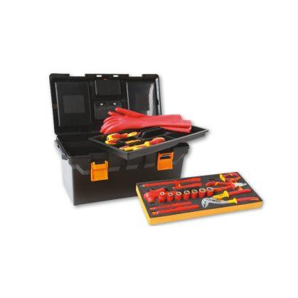 Beta 2115PL-MQ32 32 darabos szigetelt szerszámkészlet hibrid autókhoz, puha hőformázott tálcás műanyag kofferban