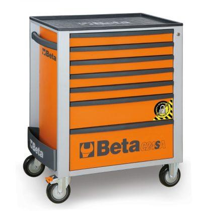 Beta C24SA/7 - 2400SA7 7 fiókos szerszámkocsi - Anti-Kipp-System