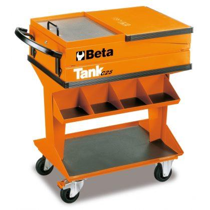 Beta C25 - 2500 Tank polcos szerszámkocsi – narancssárga színben