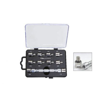 Beta 3075/K10 Univerzális cserélhető fejű kulcskészlet és 10 betét kerékküllők meghúzásához