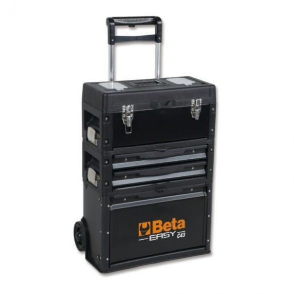 Beta 4300E/21 EASY 3 modulos szerszámkocsi 212 darabos szerszámkészlettel általános karbantartáshoz