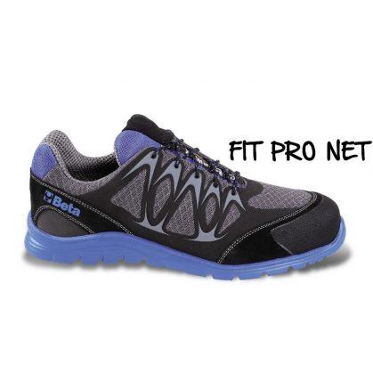 Beta 7340B Jól szellőző mesh szövet cipő nagyfrekvenciás PU betétekkel és védő erősítéssel a hasítottbőr orrnál.