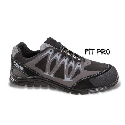 Beta 7341N Mikro hasítottbőr cipő, mérsékelten vízálló, nagyfrekvenciás PU betétekkel és védő erősítéssel a hasítottbőr orrnál.