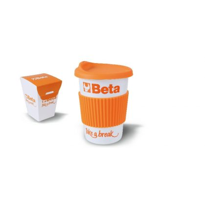 """Beta 9527MUG """"Mug"""" bögre, szilikon fedél és csík"""