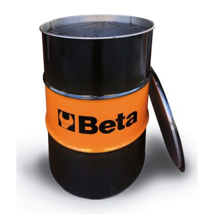 Beta 9565BBQ Lemezacél grillhordó ráccsal, parázstartóval és zárható fedéllel