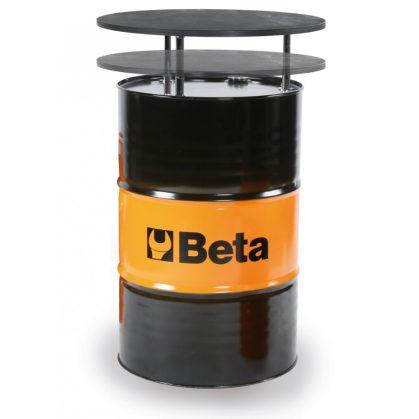 Beta 9565T Lemezacél hordóasztal lakkozott rétegelt nyírfa asztallappal