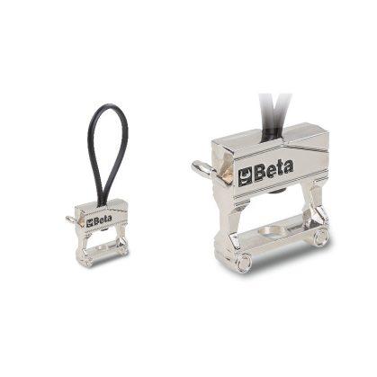 Beta 9595 C25 Krómozott fém kulcstartó gumihoroggal