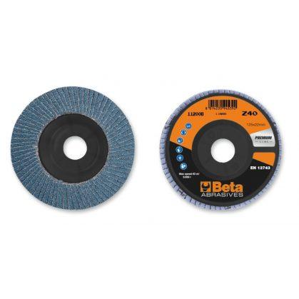 Beta 11200B csiszolótárcsák cirkónium csiszolóvászonnal, műanyag csiszolótalp, egylamellás kivitel