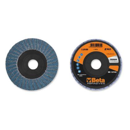 Beta 11202B csiszolótárcsák cirkónium csiszolóvászonnal, műanyag csiszolótalp, dupla lamellás kivitel