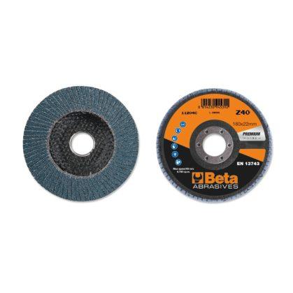 Beta 11204C csiszolótárcsák cirkónium csiszolóvászonnal, üvegszál csiszolótalp, egylamellás kivitel