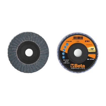 Beta 11214A csiszolótárcsák cirkónium csiszolóvászonnal, műanyag csiszolótalp, dupla lamellás kivitel