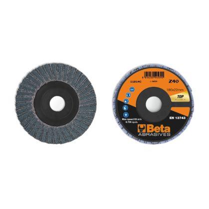 Beta 11214C csiszolótárcsák cirkónium csiszolóvászonnal, műanyag csiszolótalp, dupla lamellás kivitel