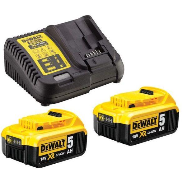 DeWalt DCB115P2 Akkumulátor töltő XR10.8-18V és 2db DCB184 5.0Ah 18V akku szett