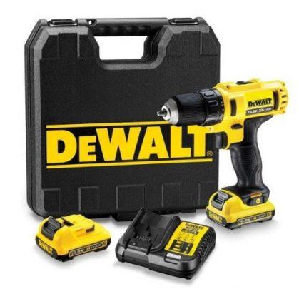 DeWalt DCD710D2-QW 10,8V XR akkus fúrócsavarozó 2db 2.0Ah XR Li-Ion akkuval, kofferben
