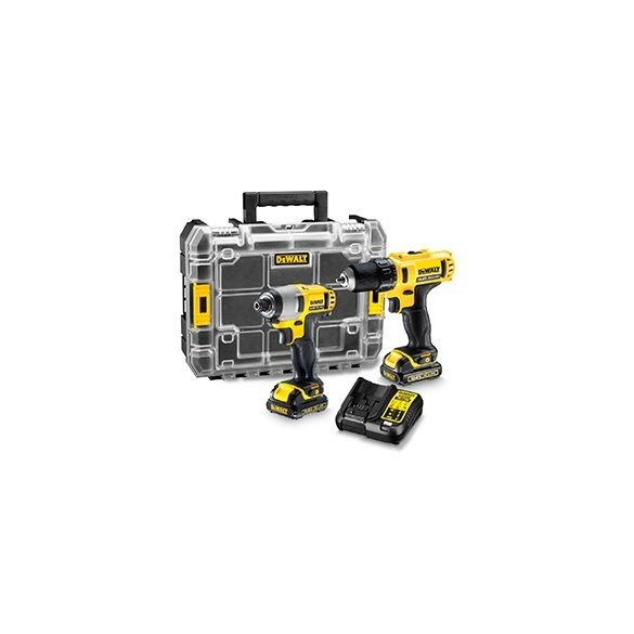 DeWalt DCK211C2T 2 gépes combopack 10,8V XR Li-Ion