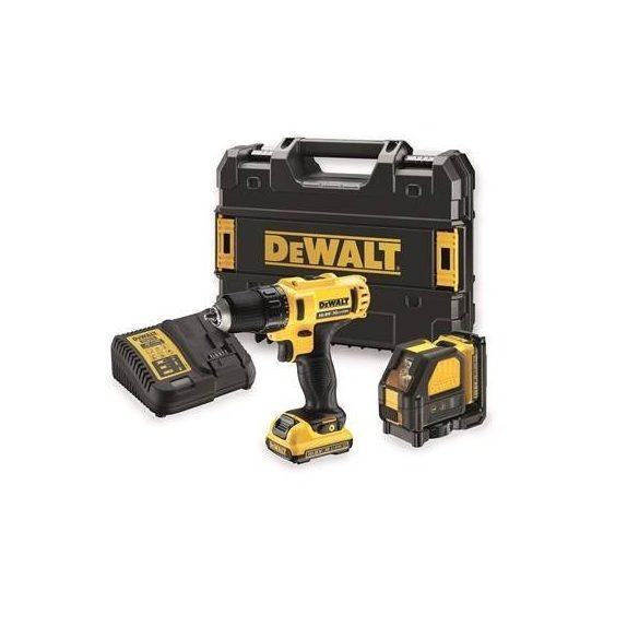 DeWalt DCK215D2T-QW Két gépes combopack (DCD710D2 és DCE088NR) 10,8V, akkuval és töltővel, kofferben